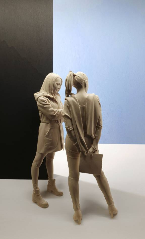 Peter Demetz - Waiting Girls (detail)
